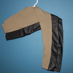 NWOT Olive Green and Faux Leather Pants
